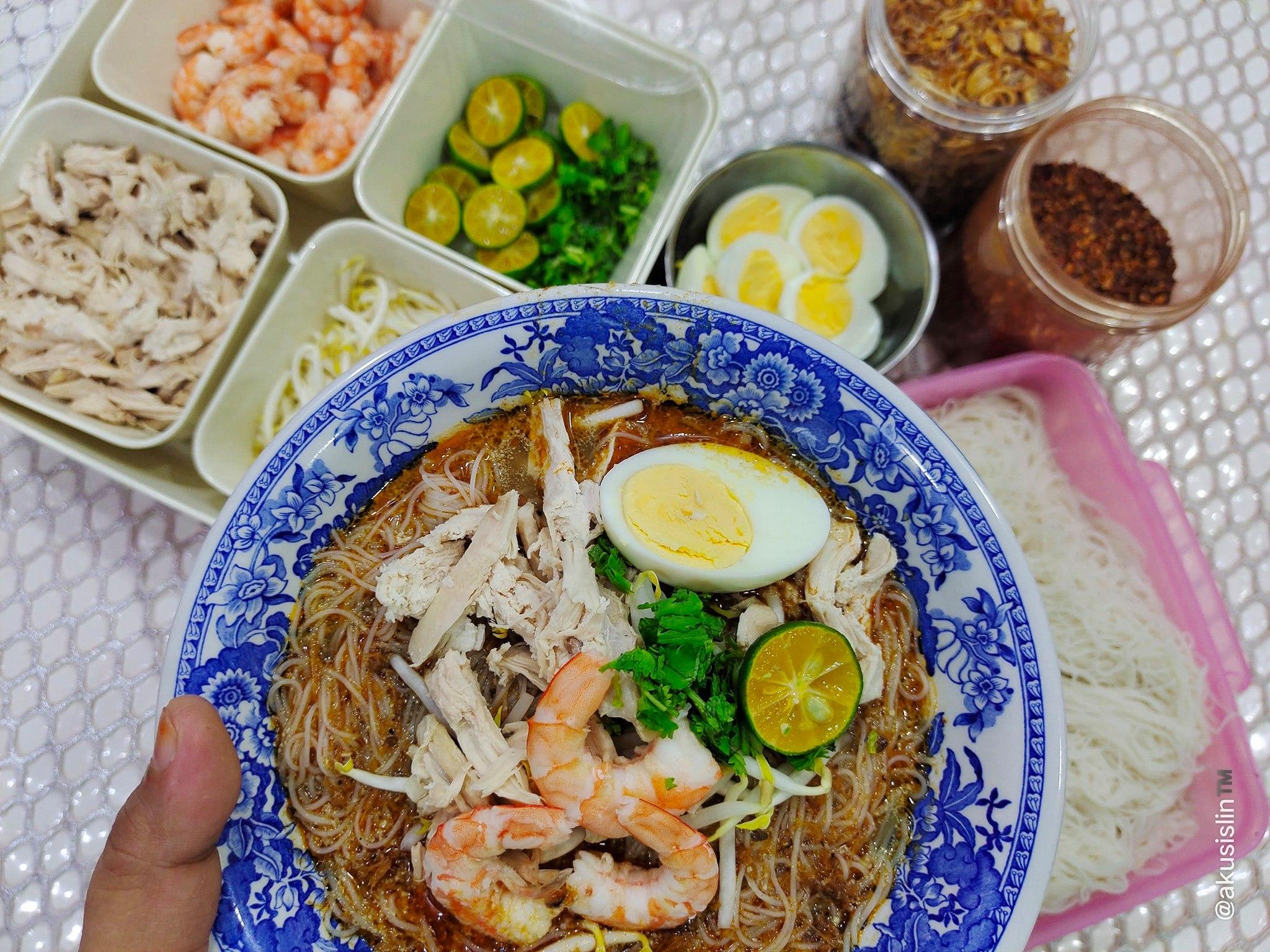 Resepi Laksa Sarawak Mudah Dan Sedap Guna Pes Haji Manan