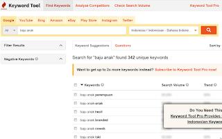 Keyword Tools IO Free Online Tools Keywords Analisis