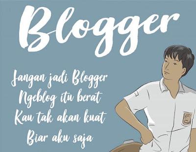 memilih menjadi blogger seribu tahun lagi
