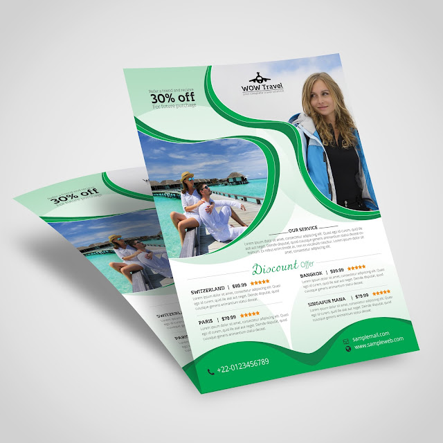 holiday, travel, flyer, print, template, design, tourist, tour, agency, weekend,