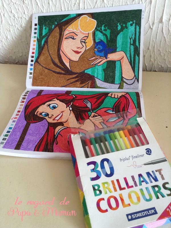 Le Regard De Papa Et Maman Coloriage Avec Les Feutres Et Crayons