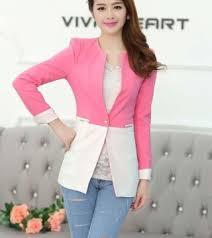 Contoh Baju Blazer Korea Terbaru