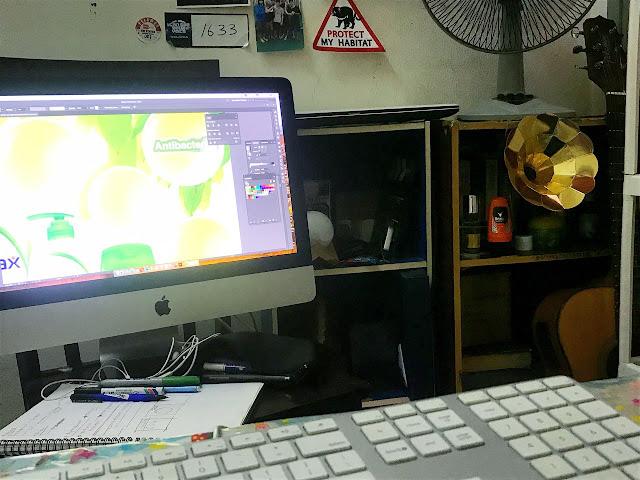 Ruang artistic yang memerlukan skrin besar untuk kerja yang lebih teliti