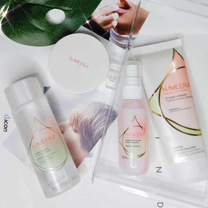 Review Nameera BB Cushion Nude | Skincare Nameera Glow Mist, Esence Water