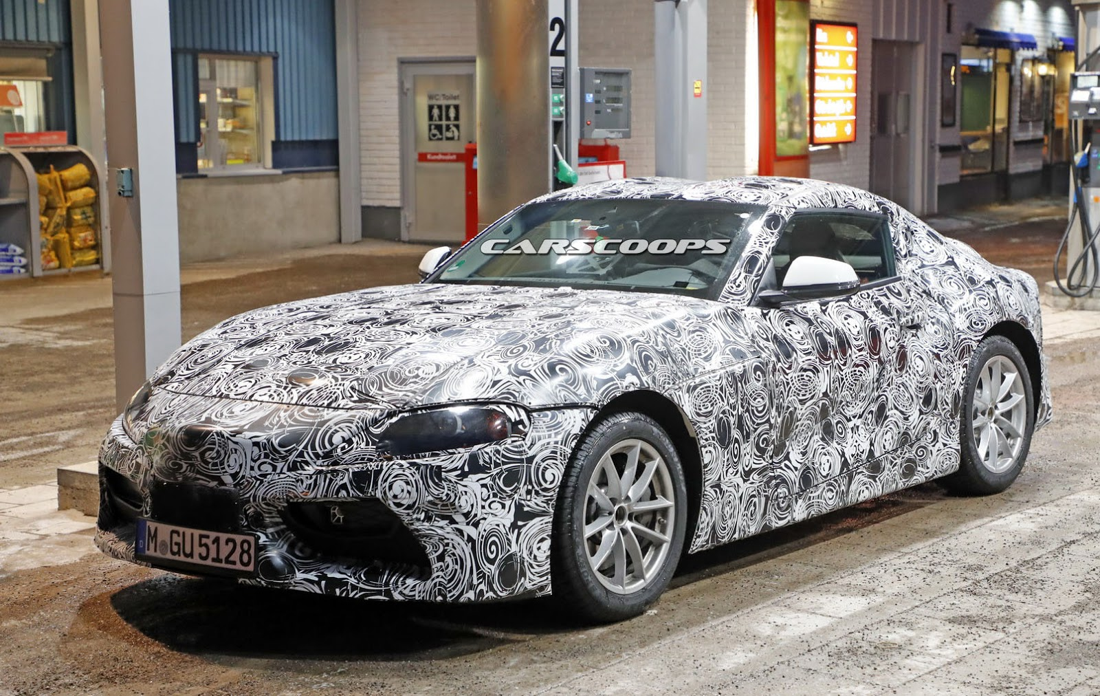 2019 Toyota Supra Spied Up Close And Personal Carscoops