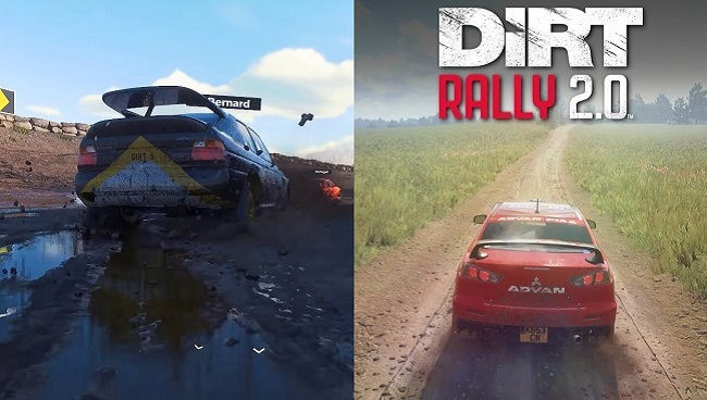 Comparison and differences between Dirt 5 and Dirt Rally 2.0