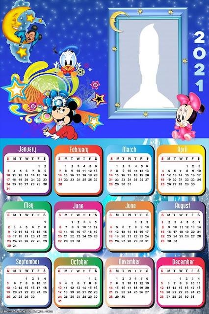 Mickey Bebé y sus Amigos: Calendarios 2021 para Imprimir Gratis