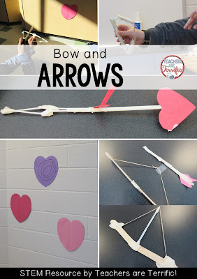 STEM Challenge for Valentine's Day: Make a working bow and arrow! Check the blog post for more!