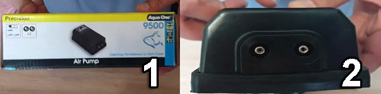 Air pump with 2 outlets