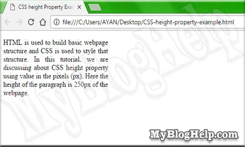 CSS-height-property-example