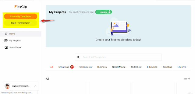 شرح استعمال موقع flexclip