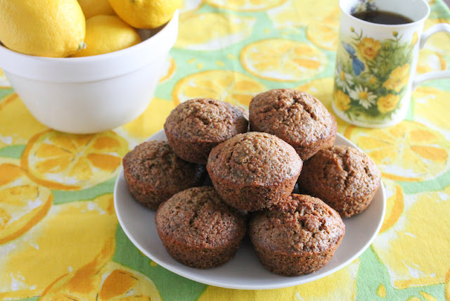 Food Lust People Love: Fresh and fluffy, these lemon zucchini muffins have the added crunch of poppy seeds. I also baked them with stoneground wholegrain flour in addition to the all-purpose stuff, which gives them a little extra oomph of flavor. Delightful!