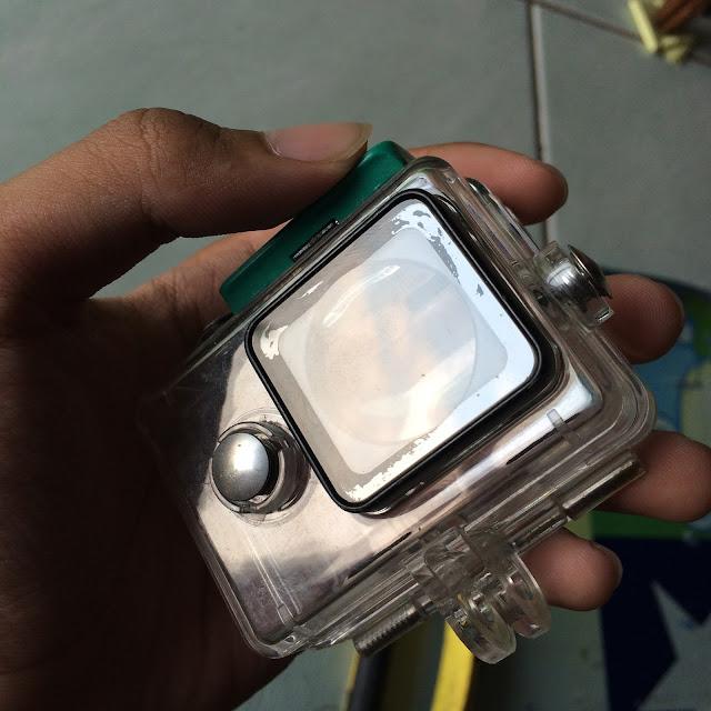 lensa waterproof bocor tidak rapat lagi