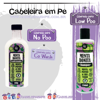 Shampoo (Low Poo) e Condicionador (No Poo e Co Wash) Menta Bonita - Lola Cosmetics