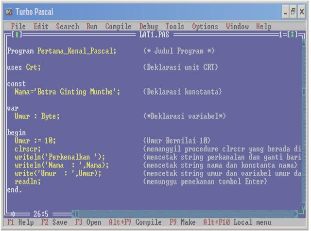 Perkembangan Bahasa Pascal