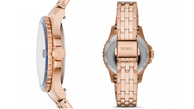 jam THREE-HAND DATE ROSE GOLD-TONE STAINLESS STEEL WATCH