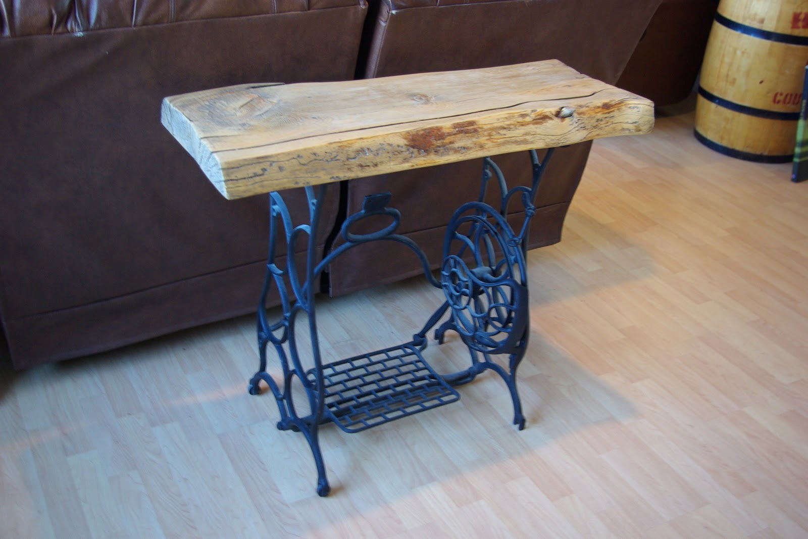 Reclaimed Rustics Sewing Machine Sofa Table
