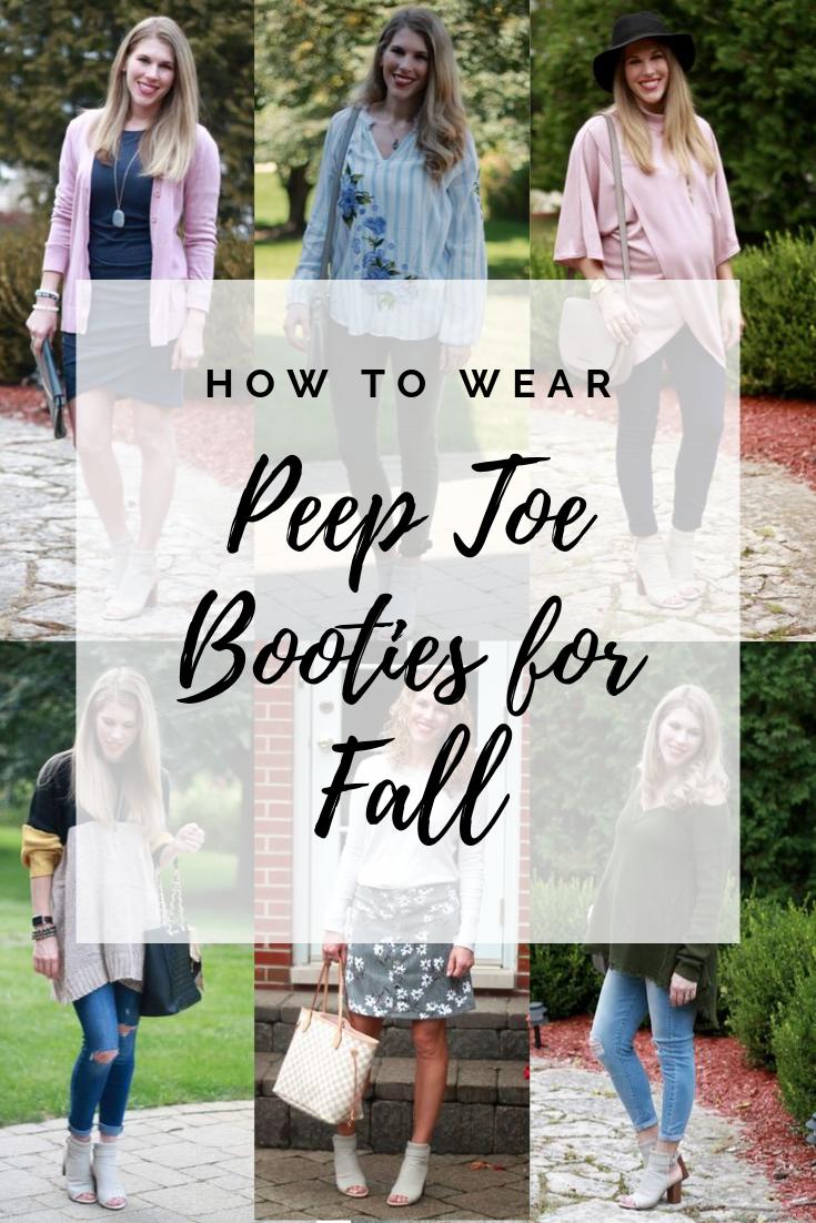 Peep Toe Booties for Fall