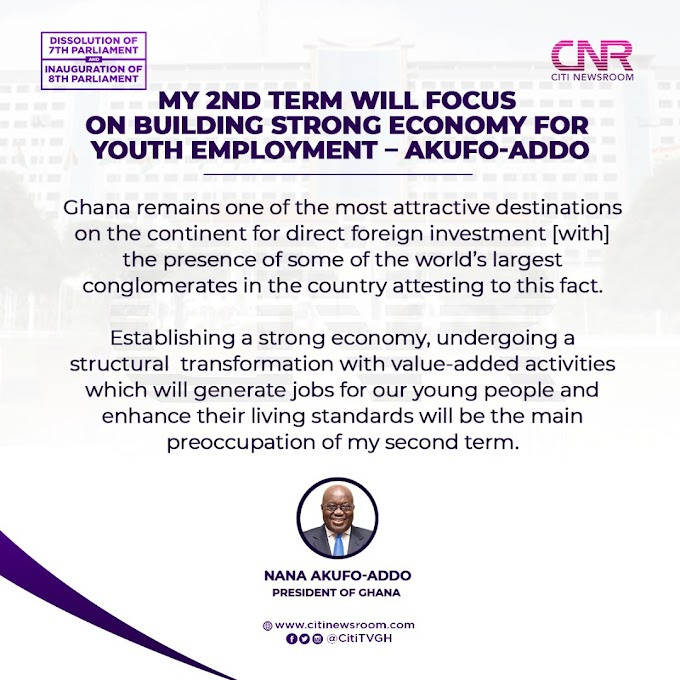 Nana Akufo-Addo has promised to build a strong economy