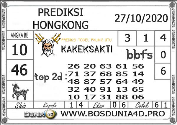 Prediksi Togel HONGKONG DUNIA4D 27 OKTOBER 2020