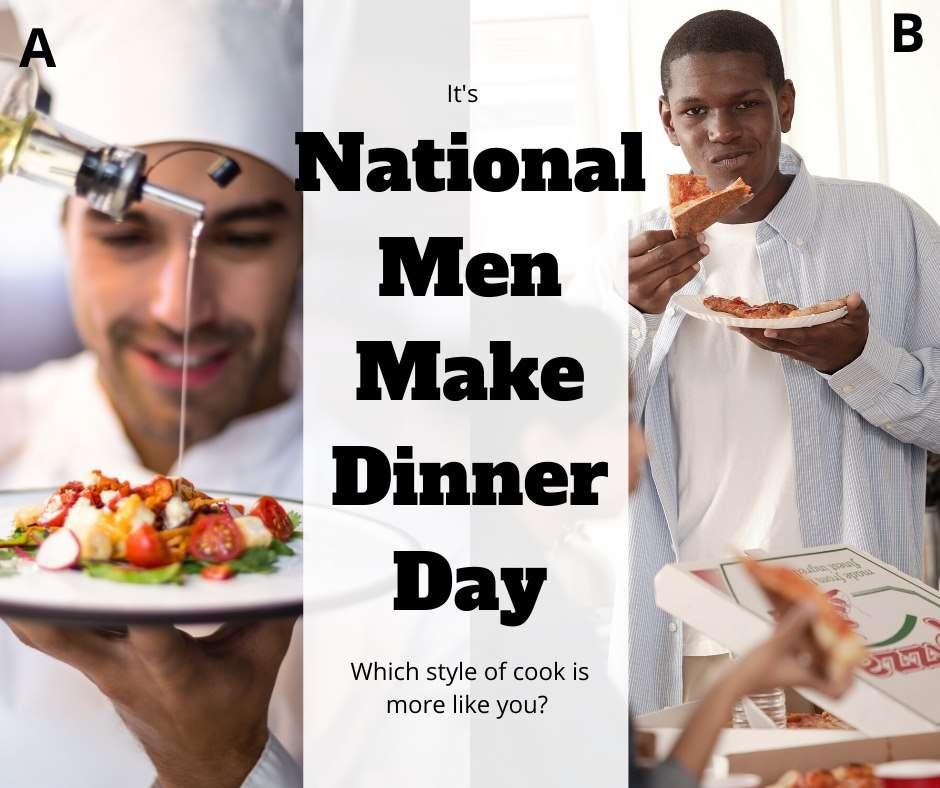 National Men Make Dinner Day Wishes Pics