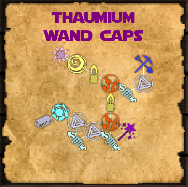 thaumcraft silver wand caps research