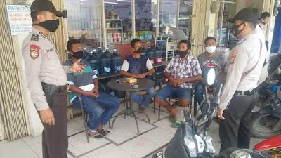 Cegah COVID-19 Polsek Bandar Seikijang Patroli dan Sosialisasi AKB