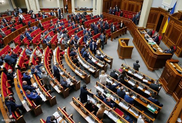 Leszavazta a kormány éves cselekvési programját az ukrán parlament