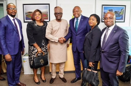 PHOTO: FIDELITY BANK CEO AND HIS TEAM VISITS LAGOS GOVERNOR ELECT SANWO -OLU