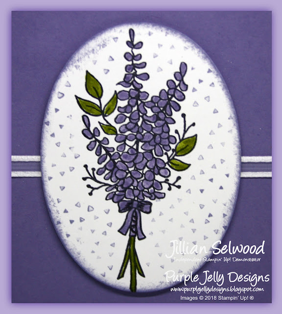 Lots of Lavender thank you card, Wisteria Wonder, Old Olive