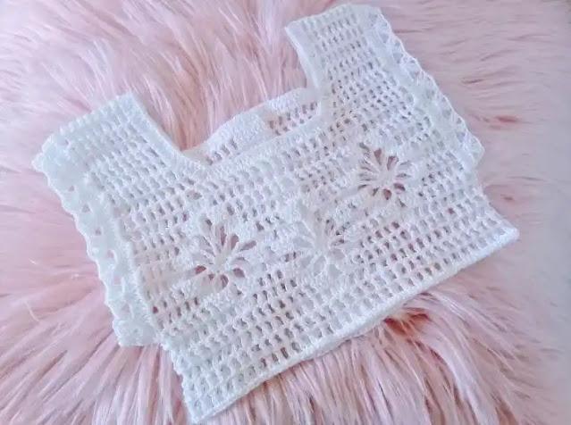 Canesú a Crochet para bebé