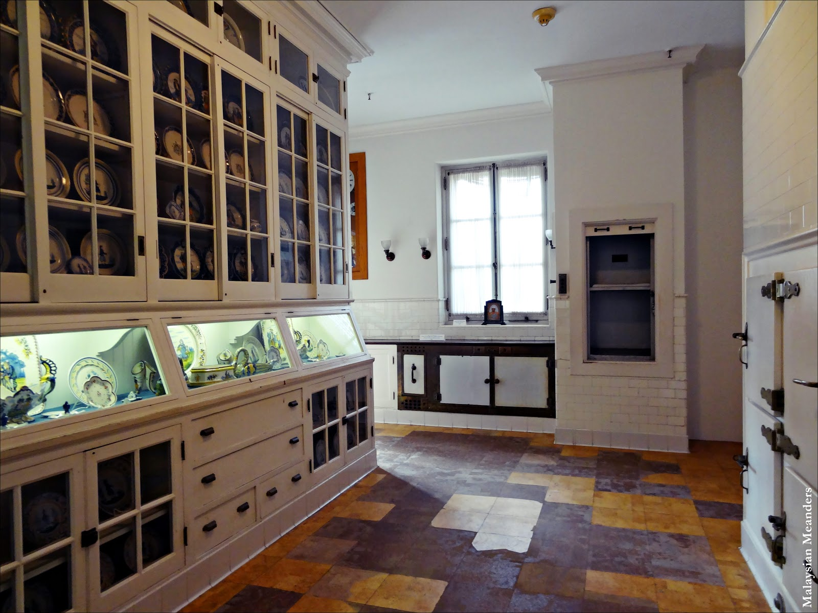 Inspirational Downstairs Serving Pantry plete with refrigerators and a dumbwaiter