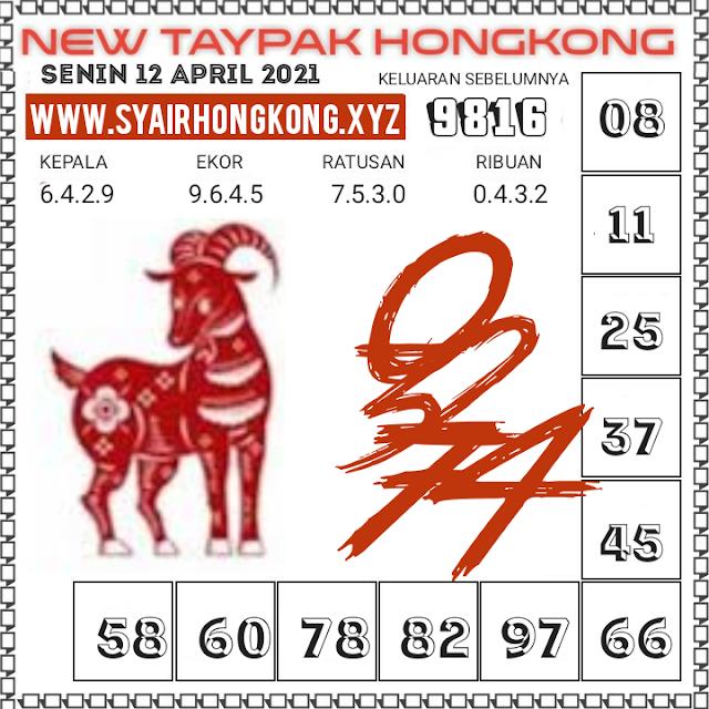 syair hk taypak 12 april 2021