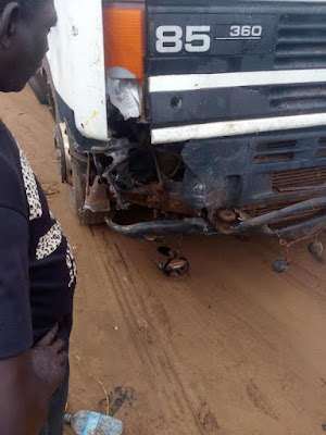 Graphic photos: Petrol tanker crushes two to death in Ikorodu