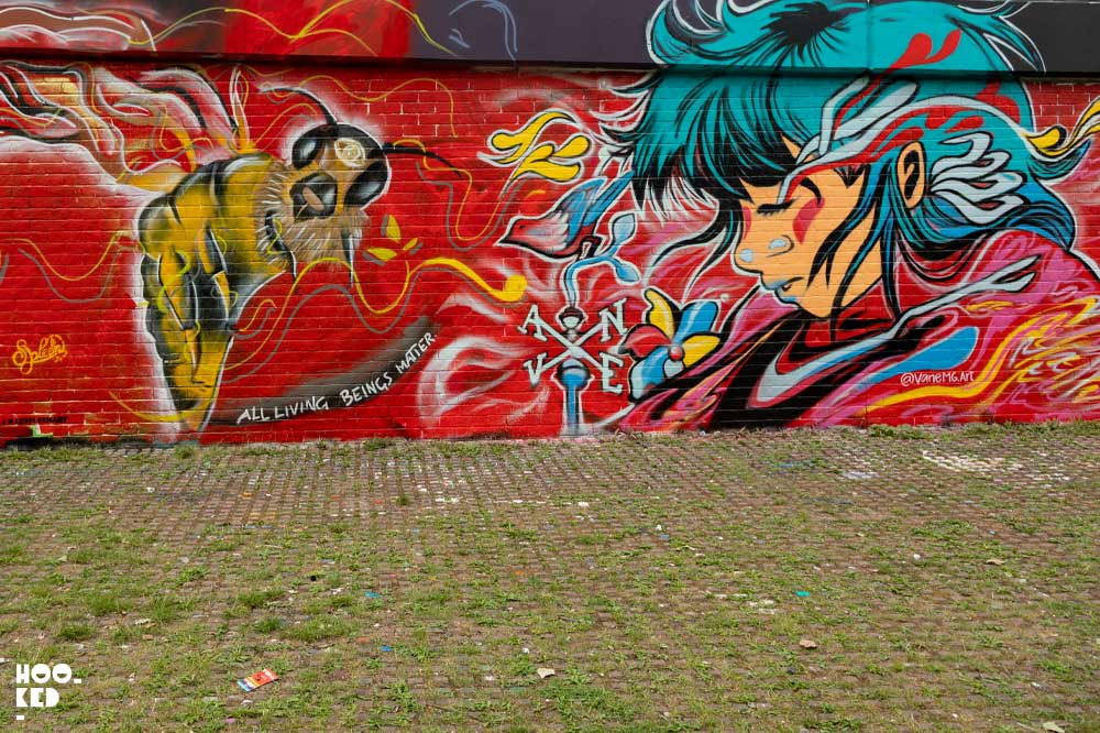 WOM Collective' Anniversary London Paint Jam in Allen Gardens, London