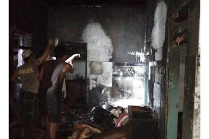 4 Rumah Warga Desa Mandangin Terbakar Usai Tarawih