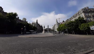 panoramica da av. dos Aliados no Porto