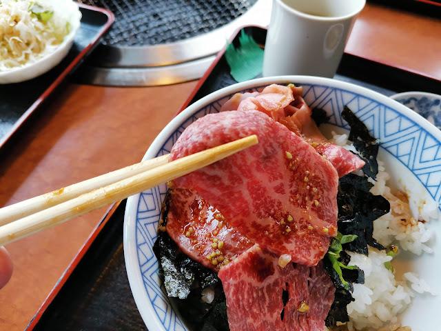 焼肉音琴の長崎和牛 牛トロ丼