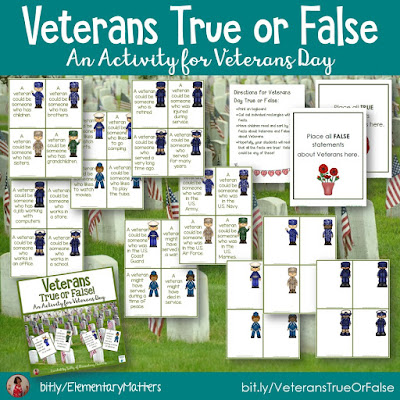 https://www.teacherspayteachers.com/Product/Veterans-True-or-False-166057?utm_source=blog%20post&utm_campaign=Veterans%20true%20or%20false
