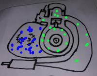 Lukisan enjin 2-lejang