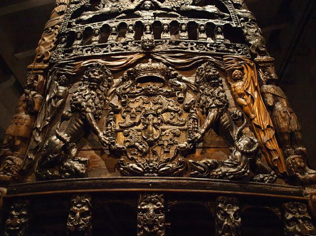 jiemve, Vasa, bâteau, musée, décoration, poupe, lions