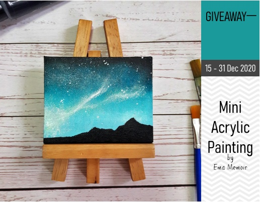 Mini Giveaway Acrylic Painting by Ema