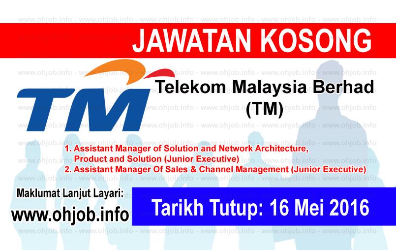 Jawatan Kerja Kosong Telekom Malaysia Berhad (TM) logo www.ohjob.info mei 2016