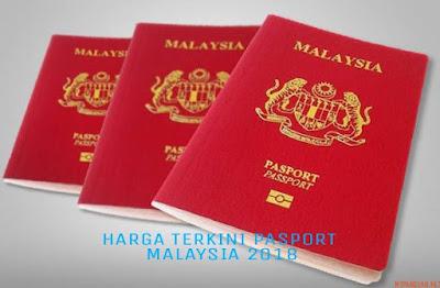 Harga Pasport Malaysia Antarabangsa Terkini 2018