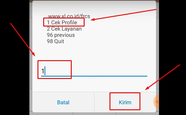 Cek Pulsa XL Melalui Dial Call atau UMB vi