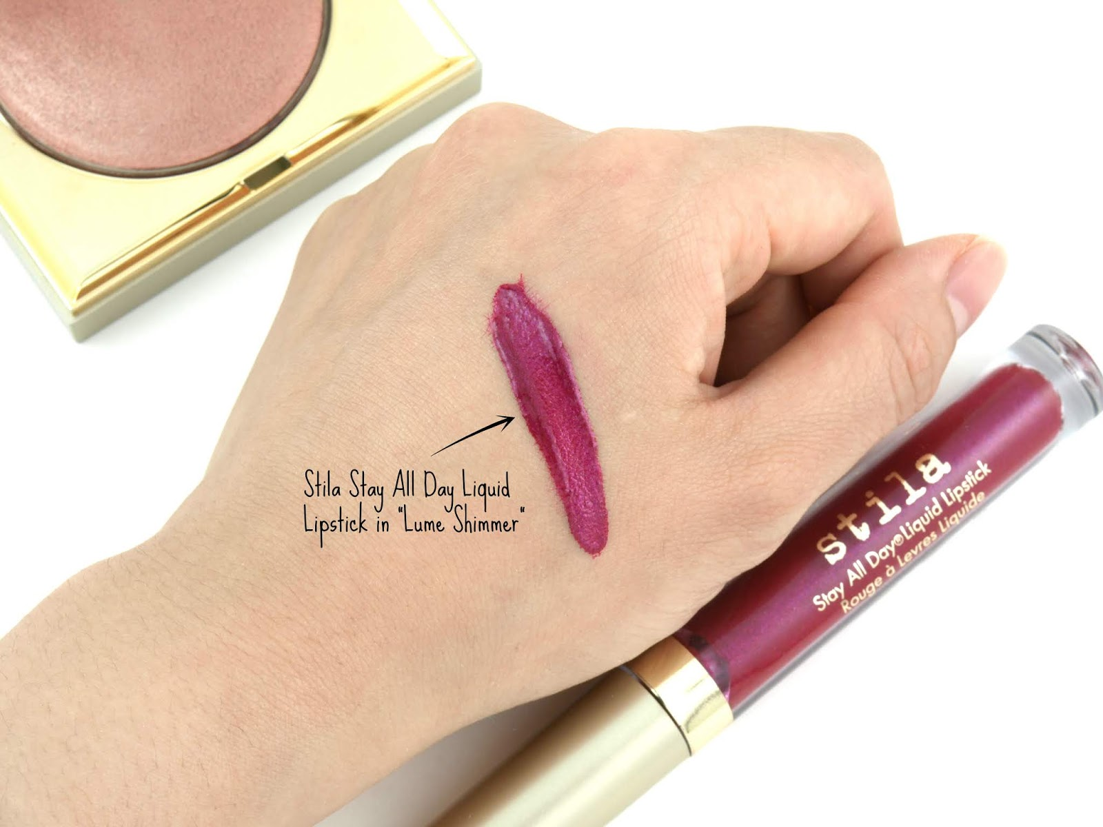 "Stila | Stay All Day Liquid Lipstick in ""Lume Shimmer"": Review and Swatches"