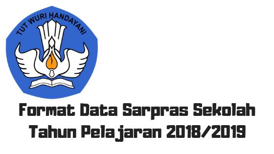 Format Data Sarpras Sekolah Tahun Pelajaran 2018/2019