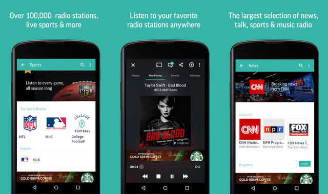 TuneIn Best Music Player For Android