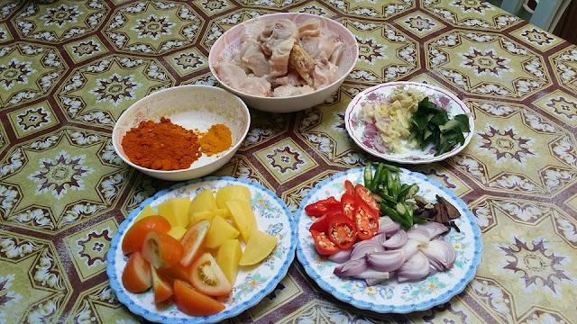 bahan-bahan Resepi Kari Ayam Style India
