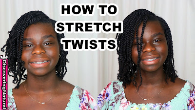How To Stretch Twists On Natural Hair in MINUTES